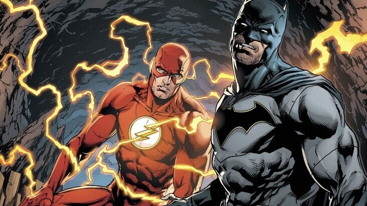 flash y batman